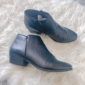 St Johns Bay Black Booties Size 8
